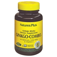 Ginkgo-Combo Vcaps - 60 Count Bottle (60 Servings) & 90 Count Bottle (90 Servings) - Natures Plus
