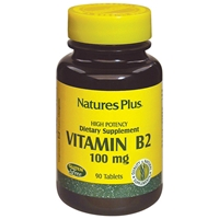 Vitamin B-2 100 mg Tablets - 90 Count Bottle (90 Servings) - Natures Plus