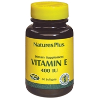 Vitamin E 400 IU Softgels - 60 Count Bottle (60 Servings) & 90 Count Bottle (90 Servings) & 180 Count Bottle (180 Servings) - Natures Plus