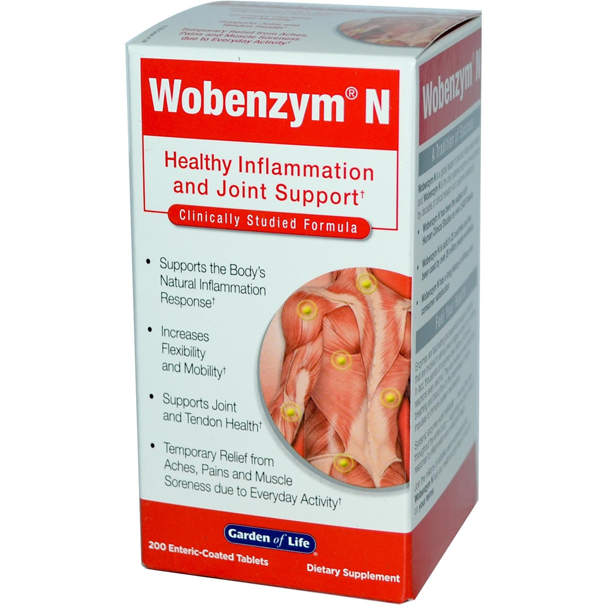 Wobenzym N - 200 enteric coated tablets - Garden of Life