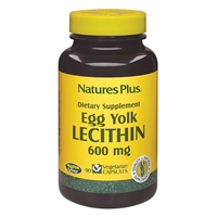 Egg Yolk Lecithin 600 mg Vcaps - 90 Count Bottle (90 Servings) - Natures Plus