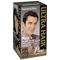 Men's Ultra Hair Plus Sustained Release Tablets - 60 Count Bottle (30 Servings) - Natures Plus