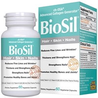 BioSil Hair, Skin, Nails - 60 Vegetarian Capsules - Natural Factors: 5425010391835