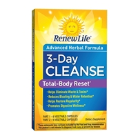 3-Day Cleanse Total-Body Reset - 12 Vegetable Capsules - Renew Life