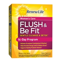 Flush & Be Fit Women's Care Gentle Cleanse & Detox - 14 Daily Strip Packs - Renew Life