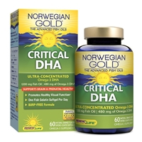 Norwegian Gold Critical DHA - 60 Enteric Coated Softgels - Renew Life