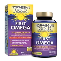 Norwegian Gold First Omega Natural Orange - 60 Enteric-Coated Softgels - Renew Life