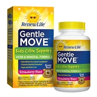 Gentle Move Kids Colon Support Strawberry Blast - 60 Chewable Tablets - Renew Life
