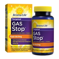 Gas Stop Fast-Acting - 60 Vegetable Capsules - Renew Life
