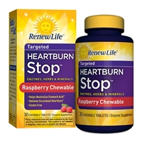 Targeted Heartburn Stop Raspberry - 30 Chewable Tablets - Renew Life