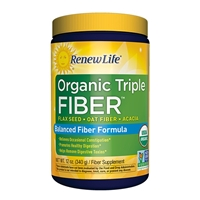 Organic Triple Fiber Powder - 12 oz - Renew Life