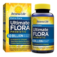 Ultimate Flora Extra Care Probiotic - 50 billion - 14 Vegetable Capsules - Renew Life