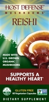 Organic Reishi Mushrooms - 120 Vegetarian Capsules - Host Defense