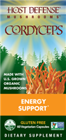 Organic Mushrooms CordyCeps - 60 Vegetarian Capsules - Host Defense