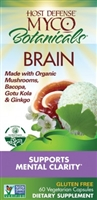 MycoBotanicals Brain - 60 Vegetarian Capsules - Host Defense