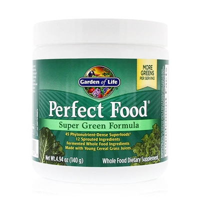 Perfect Food Super Green Formula More Greens per Serving Powder - 4.94 oz (140g) - Garden of Life