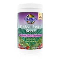 Perfect Food Berry Super Green Fruit & Veggie Formula Powder - 8.5 oz (240g) - Garden of Life
