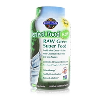 Perfect Food RAW Organic Green Super Food - 240 Vegan Capsules - Garden of Life