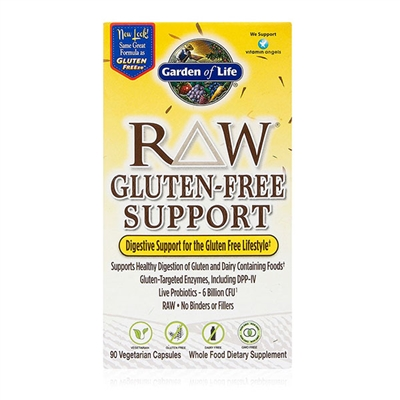 RAW Gluten-Free Digestive Support - 90 Vegetarian Capsules - Garden of Life
