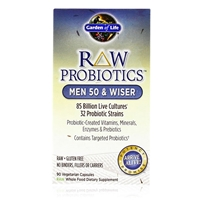 RAW Probiotics Men 50 & Wiser Garden of Life 90 Vegetarian Capsules 658010115667