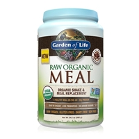 RAW Organic Meal Shake & Meal Replacement Powder Chocolate Cacao - 34.8 oz (986g) - Garden of Life - 658010115933