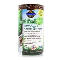 Perfect Food RAW Organic Green Super Food Powder Chocolate Cacao - 10 oz (285g) - Garden of Life - 658010115957