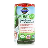 Perfect Food RAW Organic Green Super Food Powder Apple - 7.9 oz (224g) - Garden of Life