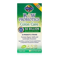 RAW Probiotics Colon Care 50 Billion CFU - 30 Capsules - Garden of Life - 658010116657