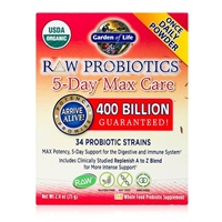 RAW Probiotics 5-Day Max Care 400 Billion CFU Powder - 2.4 oz (75g) 658010116664