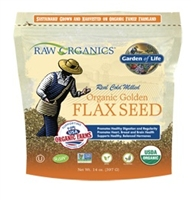 RAW Organics - Organic Ground Flax Seeds, 14 oz - Garden of Life
