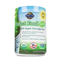 Perfect Food RAW Organic Green Super Food Powder - 17 oz (481g) - Garden of Life - 658010117081