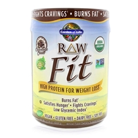 RAW Fit Organic Protein Powder Chocolate Cacao - 15.8 oz (448g) - Garden of Life - 658010117425