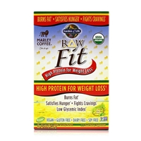RAW Fit Organic Protein Powder Marley Coffee - 10 Packets (44g Each) - Garden of Life