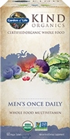 Garden of Life	Kind Organics Men's Once Daily Multi 60 Organic Tab