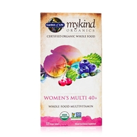 mykind Organics Women's 40+ Multivitamin - 120 tablets - Garden of Life 658010117784.