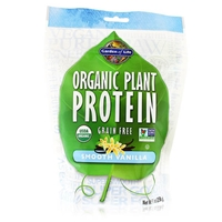 Organic Plant Protein Powder Smooth Vanilla - 9 oz (258g) - Garden of Life