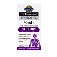 Dr. Formulated Probiotics Mood+ 50 Billion CFU - 60 Vegetarian Capsules - Garden of Life - 658010118316.