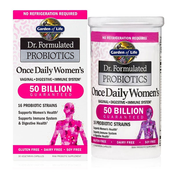 Dr Formulated Probiotics Once Daily Women S 50 Billion Cfu 30 Vegetarian Capsules Garden Of Life