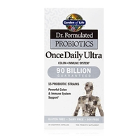 Dr. Formulated Probiotics Once Daily Ultra 90 Billion CFU - 30 Vegetarian Capsules - Garden of Life - 658010118453
