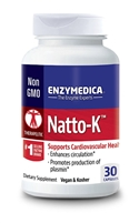 Natto-K Circulation and Heart Health 30 Count Enzymedica 670480220306