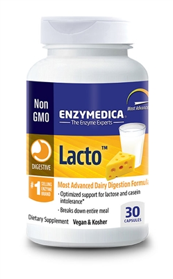 Lacto 30 Count Capsules - Enzymedica
