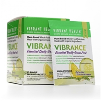 Vibrance Essential Daily Green Food Refreshing Citrus Cucumber - 15 Packets - Vibrant Health