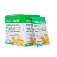Vibrance Essential Daily Green Food Energizing Orange Pineapple - 15 Packets - Vibrant Health