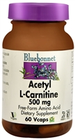 Acetyl L-Carnitine - 500 mg - 60 Vegetable Capsules - Bluebonnet Nutrition