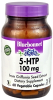 5-HTP - 100 mg - 60 Vegetable Capsules - Bluebonnet Nutrition