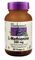 L-Methionine - 500 mg - 30 Vcaps - Bluebonnet Nutrition