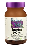 Taurine - 500 mg - 50 Vegetable Capsules - Bluebonnet Nutrition