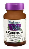 B-Complex 50 - 50 Vegetable Capsules - Bluebonnet Nutrition