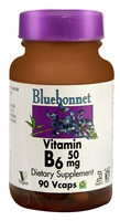 Vitamin B6 - 50 mg - 90 Vcaps - Bluebonnet Nutrition