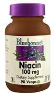 Niacin - 100 mg - 90 Vegetable Capsules - Bluebonnet Nutrition